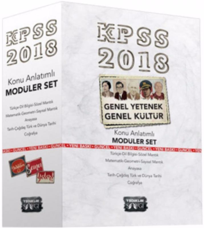 KPSS Genel Kültür Genel Yetenek Konu Anlatımlı Modüler Set Yediiklim Yayınları
