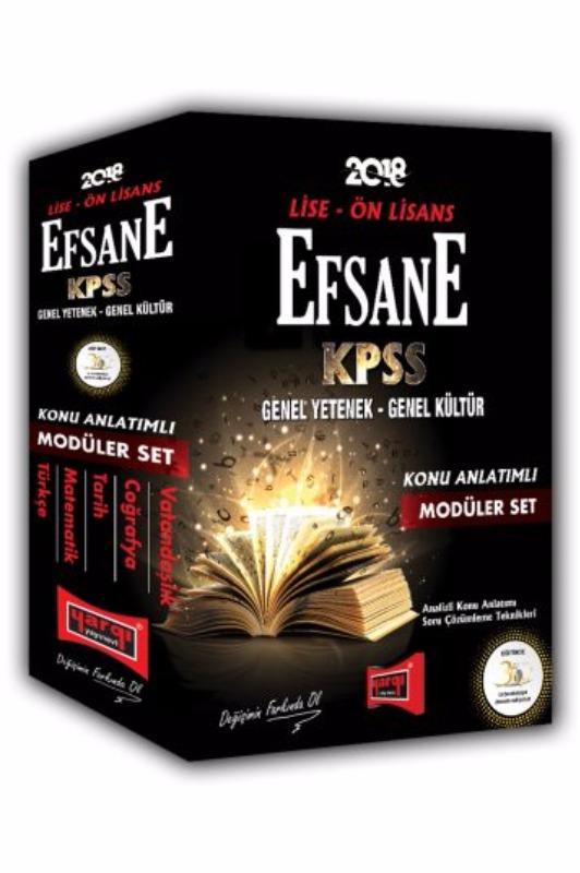 KPSS Lise Ön Lisans GY GK Efsane Konu Anlatımlı Modüler Set Yargı Yayınları