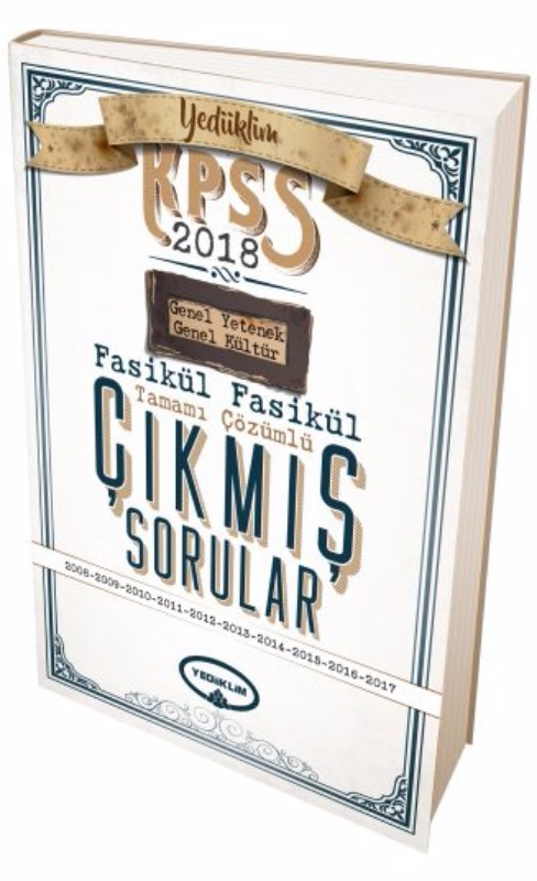 Genel Yetenek Genel Kültür 2008-2017 Fasikül Tamamı Çözümlü Çıkmış Sorular Yediiklim Yayınları