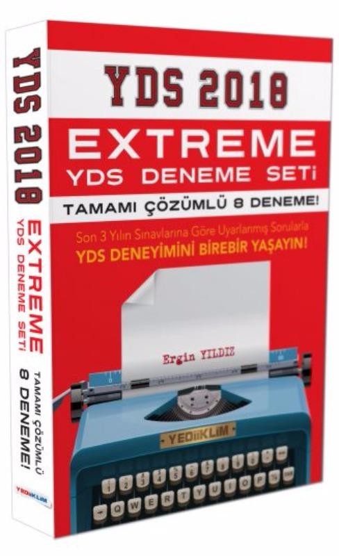 YDS Extreme Tamamı Çözümlü 8 Fasikül Deneme Yediiklim Yayınları 2018