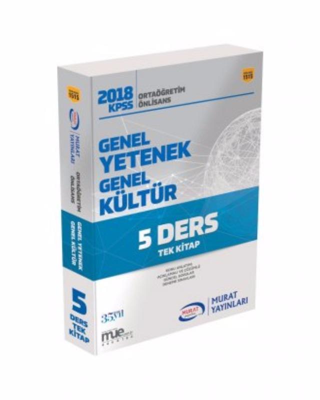 Murat Yayınları Kpss Genel Yetenek Genel Kültür Ortaöğretim Önlisans Tek Kitap