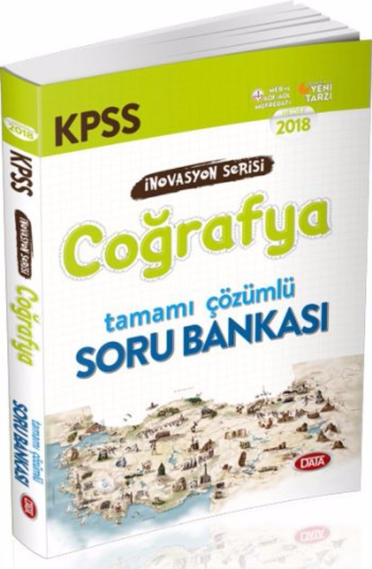 KPSS İnovasyon Serisi Coğrafya Tamamı Çözümlü Soru Bankası Data Yayınları