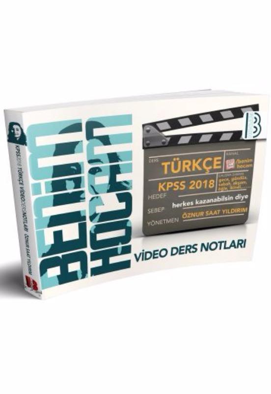 KPSS Türkçe Video Ders Notları Benim Hocam Yayınları
