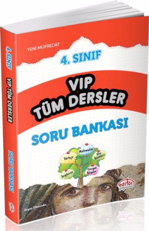 4. Sınıf VIP Tüm Dersler Soru Bankası Editör Yayınları