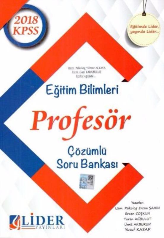 KPSS Eğitim Bilimleri Profesör Çözümlü Soru Bankası Lider Yayınları 2018