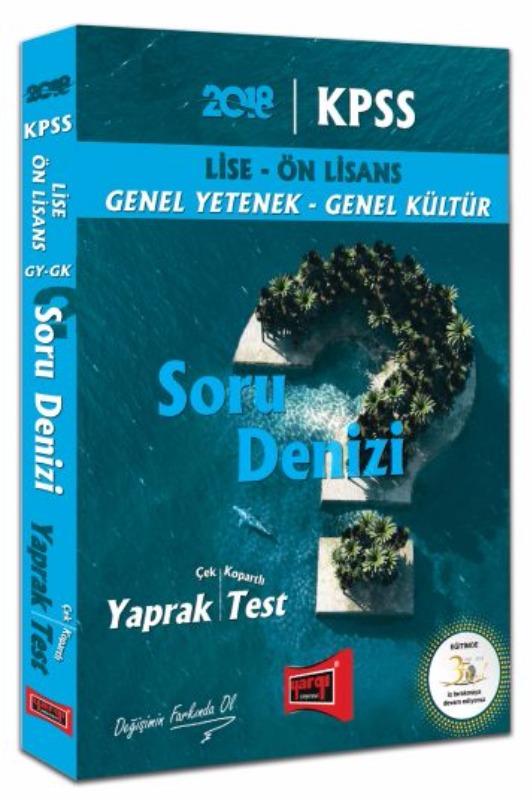 KPSS Lise Ön Lisans GY GK Soru Denizi Çek Kopartlı Yaprak Test Yargı Yayınları