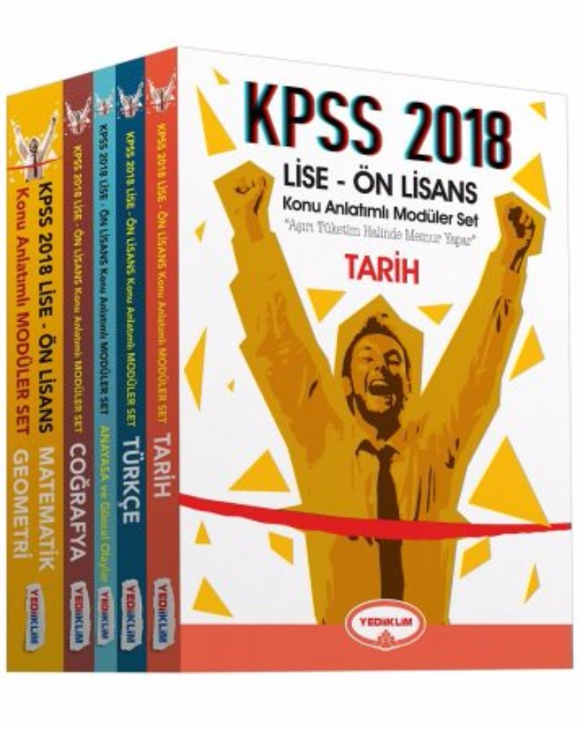 KPSS Lise Ön Lisans Konu Anlatımlı Modüler Set (5 Kitap) Yediiklim Yayınları 2018