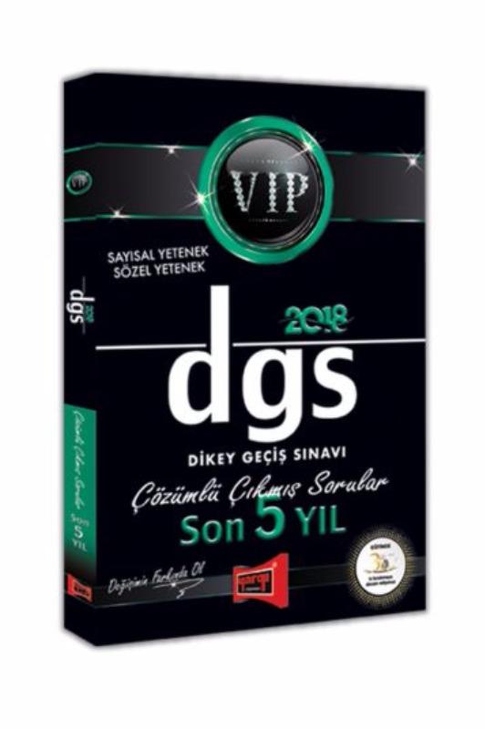 DGS VIP Sayısal Sözel Yetenek Son 5 Yıl Çözümlü Çıkmış Sorular Yargı Yayınları 2018