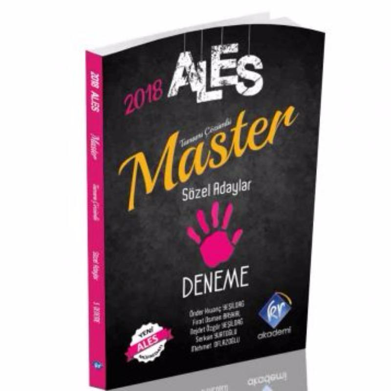ALES Master Sözel Adaylar Tamamı Çözümlü 5 Deneme KR Akademi 2018