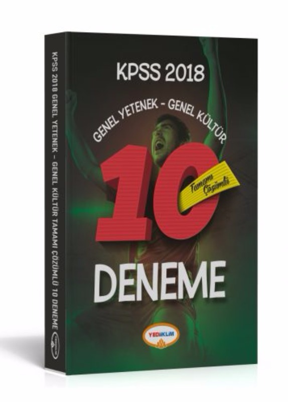 KPSS Genel Yetenek Genel Kültür Tamamı Çözümlü 10 Deneme Yediiklim Yayınları