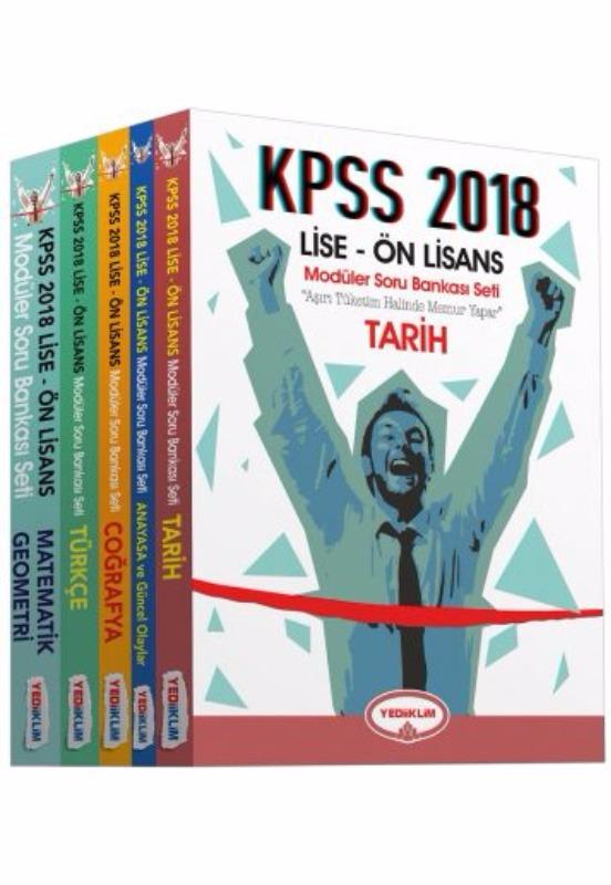 KPSS Lise Ön Lisans Soru Bankası Modüler Set Yediiklim Yayınları 2018