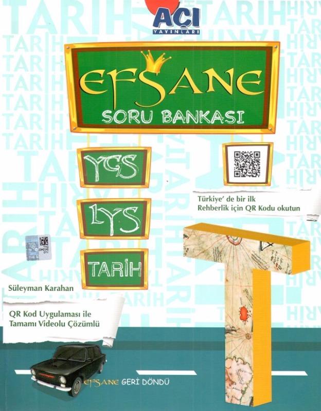 YGS LYS Efsane Tarih Soru Bankası Açı Yayınları