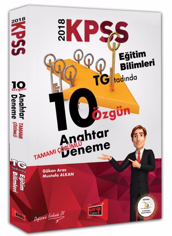 KPSS Eğitim Bilimleri Tamamı Çözümlü 10 Özgün Anahtar Deneme Yargı Yayınları 2018