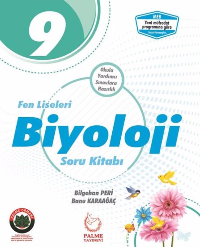Palme Yayıncılık 9. Sınıf Biyoloji Soru Kitabı Fen Liseleri İçin
