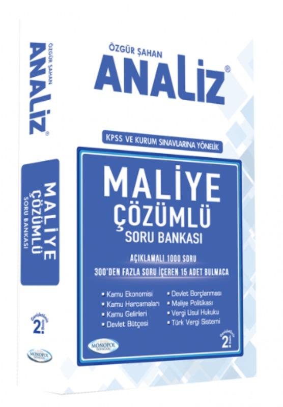 Monopol Yayınları KPSS A  Kurum Sınavlarına Yönelik Maliye Çözümlü Soru Bankası