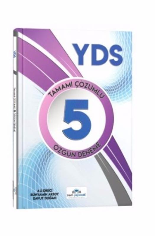 İrem Yayıncılık YDS Tamamı Çözümlü 5 Özgün Deneme