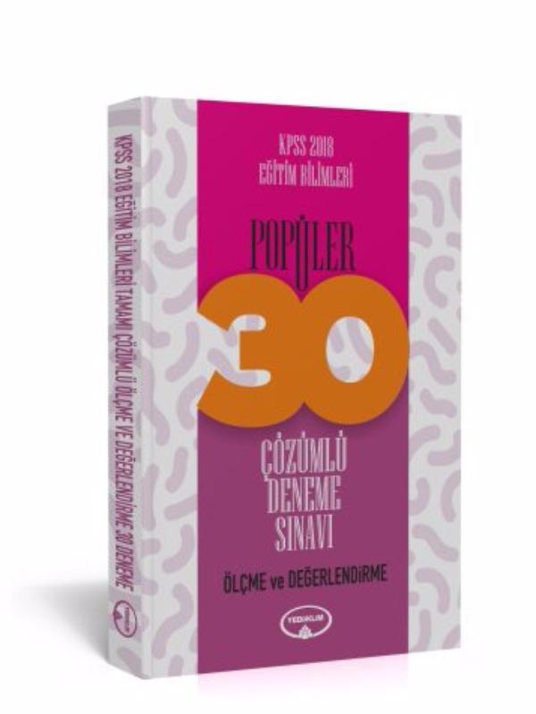 Yediiklim Yayınları KPSS Eğitim Bilimleri Ölçme ve Değerlendirme Tamamı Çözümlü 30 Popüler Deneme
