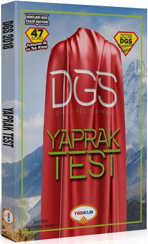 Yediiklim Yayınları  DGS Sayısal Sözel Bölüm Çek Kopart Yaprak Test