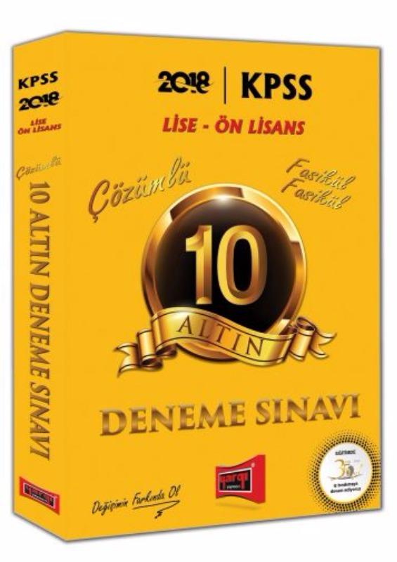 Yargı Yayınları KPSS Lise Ön Lisans 10 Altın Fasikül Fasikül Çözümlü Deneme Sınavı