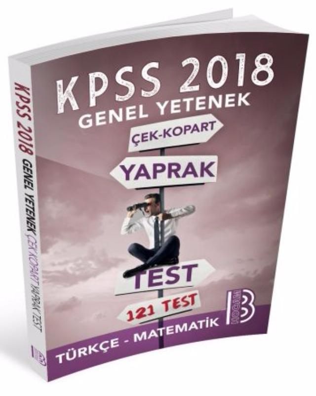 Benim Hocam Yayınları  KPSS Genel Yetenek Çek Kopar Yaprak Test