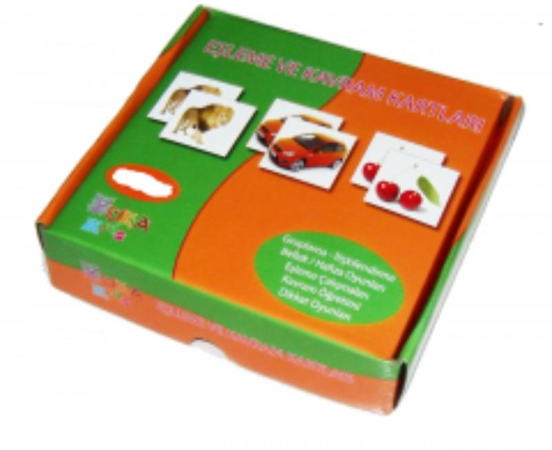 Kavram ve Eşleme Kartları  160 kart Yukatoys Yayınları