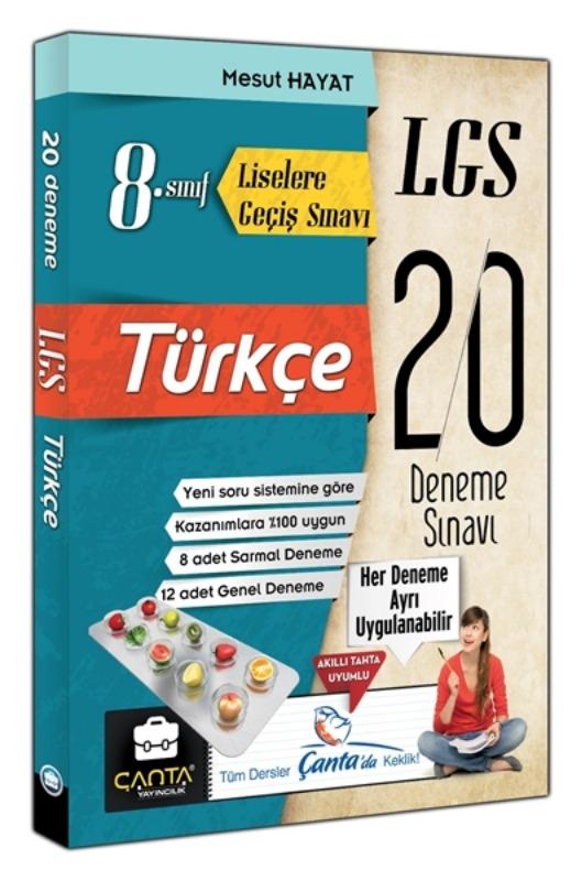 8. Sınıf Türkçe LGS 20 Deneme Çanta Yayınları