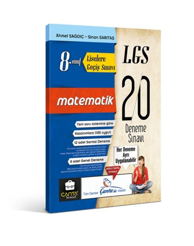 8. Sınıf Matematik LGS 20 Deneme Çanta Yayınları
