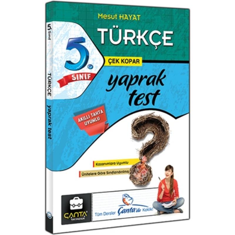 5. Sınıf Türkçe Yaprak Test Çanta Yayınları