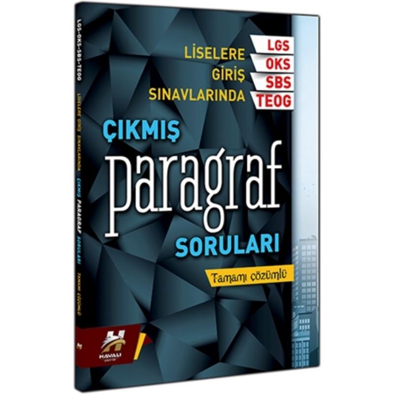 Liselere Giriş Sınavı Tamamı Çözümlü Çıkmış Sorulardan Oluşan Paragraf Soru Bankası Çanta Yayınları