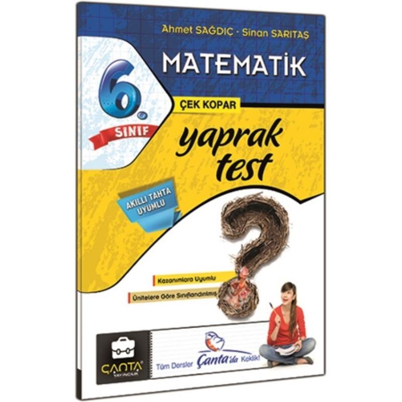 6. Sınıf Matematik Yaprak Test Çanta Yayınları