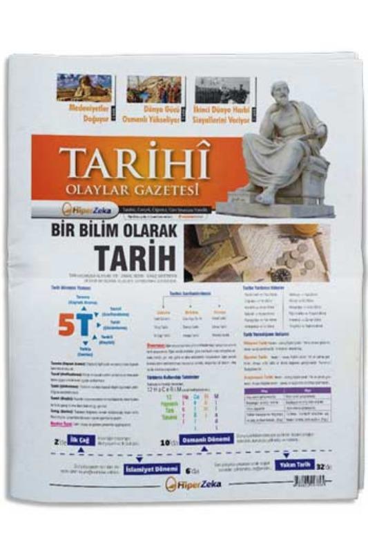 Hiper Zeka Yayınları Tüm Sınavlar İçin Tarihi Olaylar Tarih Gazetesi