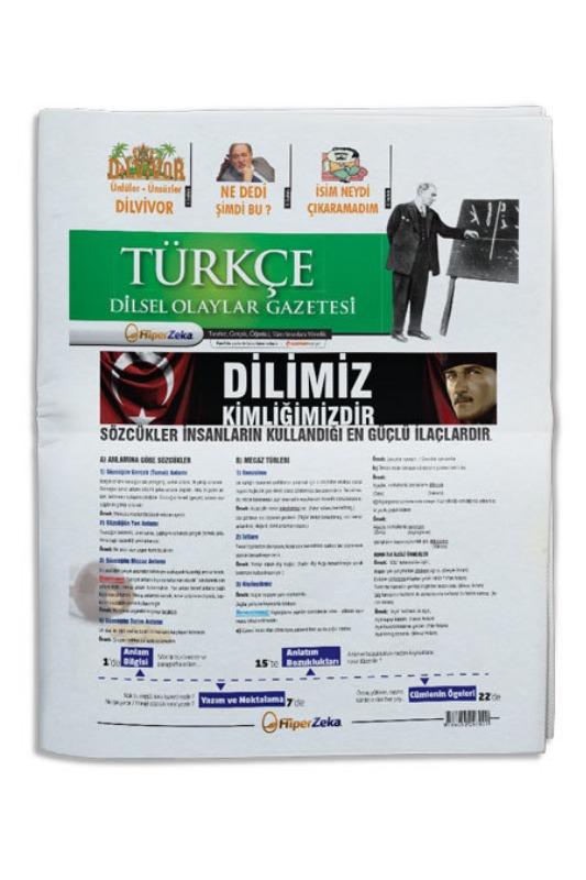 Hiper Zeka Yayınları Tüm Sınavlar İçin Türkçe Dilsel Olaylar Gazetesi