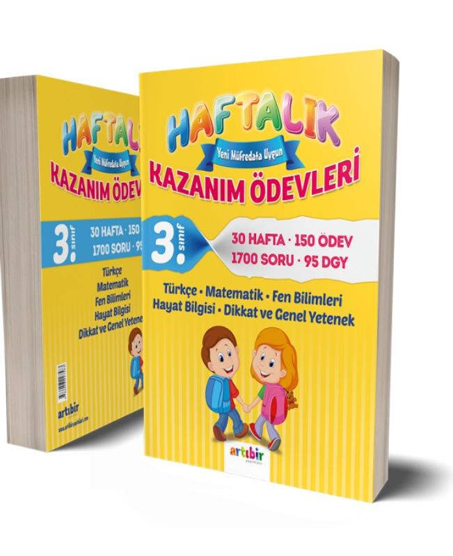 3.Sınıf Haftalık Kazanım Ödevleri Artıbir Yayınları