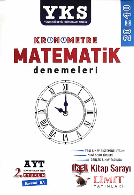 YKS AYT 2.Oturum Kronometre Matematik Denemeleri Limit Yayınları