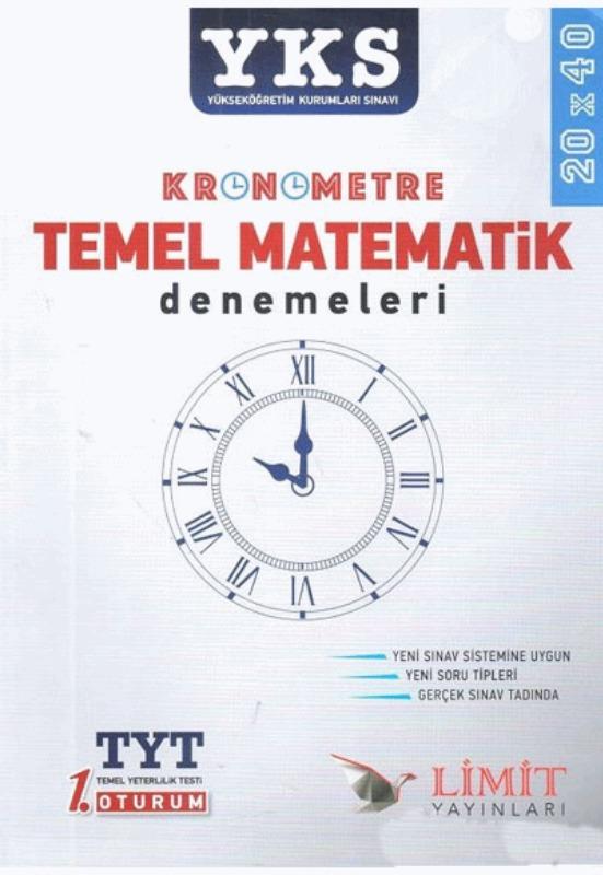 YKS Kronometre Temel Matematik Denemeleri Limit Yayınları