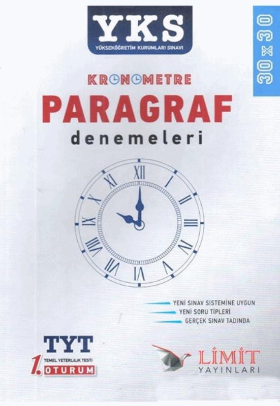 YKS Kronometre Paragraf Denemeleri Limit Yayınları