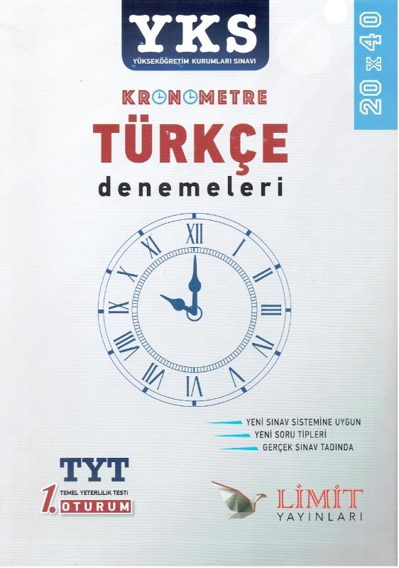 YKS Kronometre Türkçe Denemeleri Limit Yayınları