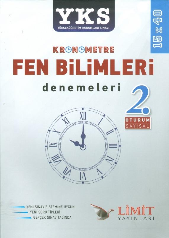 YKS 2.Oturum Kronometre Fen Bilimleri 40x15 Denemeleri Limit Yayınları