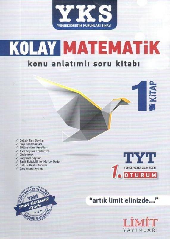 YKS 1.Oturum TYT Kolay Matematik 1. Kitap Konu Anlatımlı Soru Bankası Limit Yayınları
