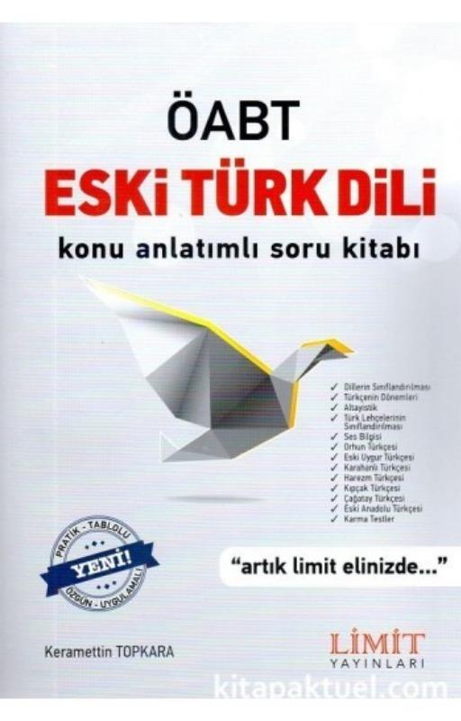 ÖABT Eski Türk Dili Konu Anlatımlı Soru Kitabı Limit Yayınları