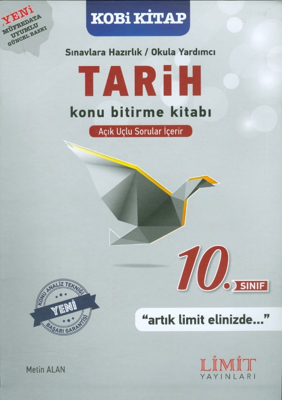 10.Sınıf Tarih Konu Bitirme Kitabı Limit Yayınları