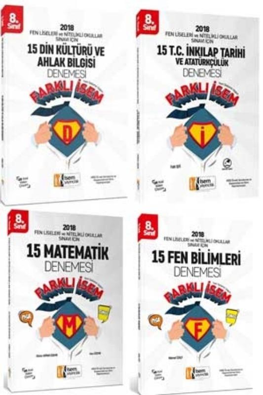 8. Sınıf Fen Liseleri ve Nitelikli Okullar Sınavı İçin 60 Deneme Seti İsem Yayınları