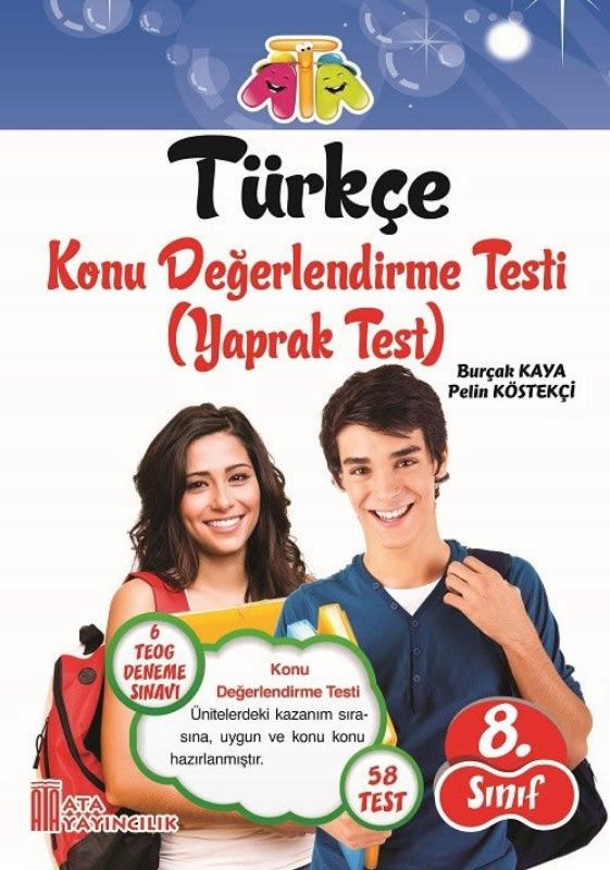 8. Sınıf Türkçe Yaprak Test Ata Yayınları