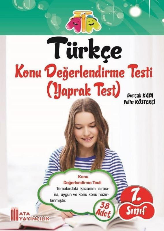 7. Sınıf Türkçe Yaprak Test Ata Yayınları