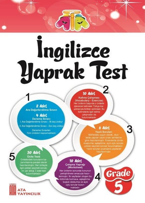 5. Sınıf İngilizce Yaprak Test Ata Yayınları