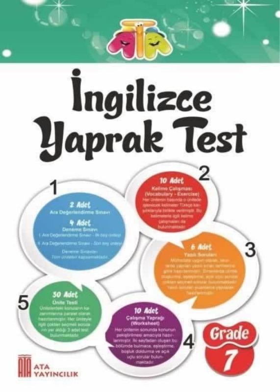 7.Sınıf İngilizce Yaprak Test Ata Yayınları