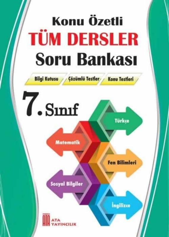 7.Sınıf Konu Özetli Tüm Dersler Soru Bankası Ata Yayınları