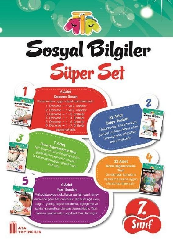 7.Sınıf Sosyal Bilgiler Süper Set Ata Yayınları