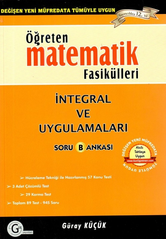 İntegral ve uygulamaları a Gür Yayınları