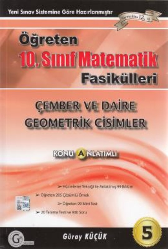 10.sınıf mdoel çember ve daire Gür Yayınları